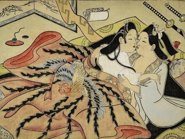 Omgivelserne får ofte lige så meget opmærksomhed som parret i mange af de flotteste shunga-billeder