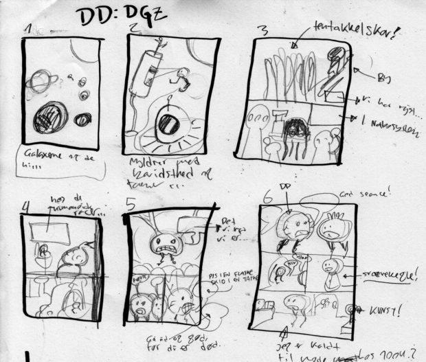 """""""Djyon Dære"""" storyboard"""
