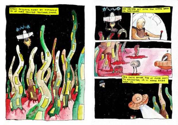 """Første udgave af """"Djyon Dære"""" - i akvarel"""