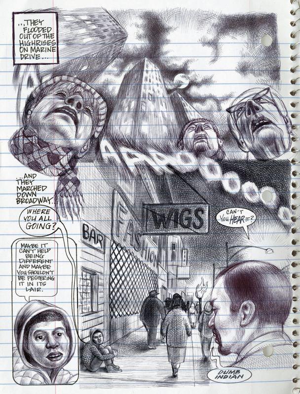 uhyggelige tegninger af monstre