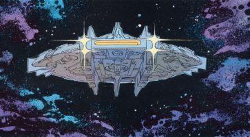 Et skudsikkert rumskib af tegneseriekunst