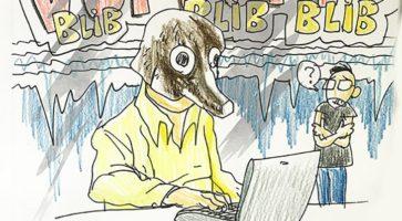 Sajmon er ikke tryg ved den online gravhund