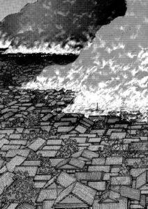 "Taniguchis barndomsby brænder - fra ""Min fars dagbog"""