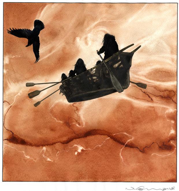 """Illustration fra Nuka Godtfredsens """"Hermelinen"""""""