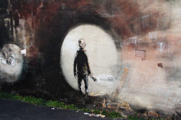 """Foto af et """"GHH""""-vægmaleri af Næstved-blogger Foxy Jones"""