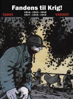 """Dansk omslag til Tardis """"Fandens til krig"""""""