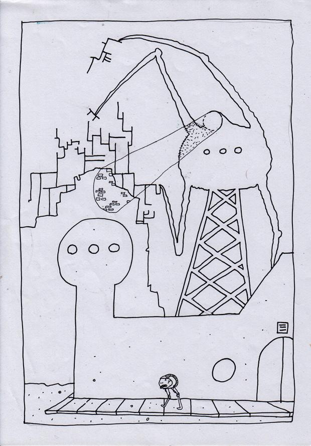 """Rentegnet """"Djyon Dære""""-side"""