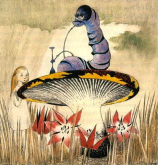 """""""Alice i eventyrland""""-illustration af Tove Jansson"""