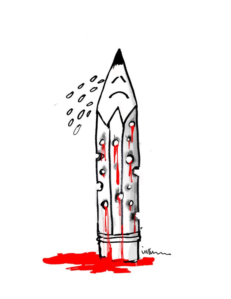 Charlie Hebdo tegning - Jørn Villumsen