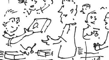 Tegneseriedagbog: Anders Brønserud i Erlangen