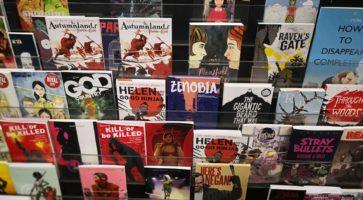 Kort over tegneserie-butikker i hele verden