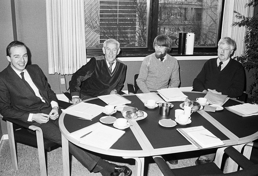 Carl-Johan Bonnier, Kurt Björkman, Kurt Dahlgaard, Arne Stenby
